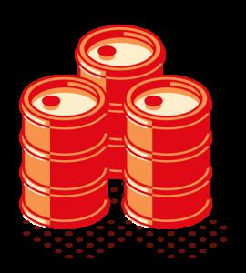 almacenamiento de barriles de hidrocarburo